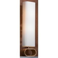 Торшер Lussole LSF-2115-02 Nulvi, 2 лампы, хром с буком, кремовый