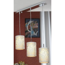 Подвесная люстра Lussole LSF-2306-03 Vetere, 1 лампа, белый с хромом, бежевый