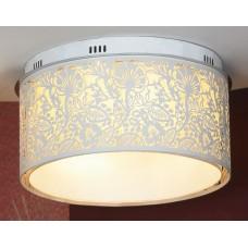 Потолочная люстра Lussole LSF-2307-07 Vetere, 7 ламп, белый с хромом, бежевый