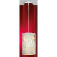 Подвесной светильник Lussole LSF-2316-01 Vetere, 1 лампа, белый с хромом, бежевый