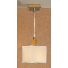 Подвесной светильник Lussole LSF-2506-01 Montone, 1 плафон, хром с буком, кремовый