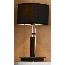 Настольная лампа Lussole LSF-2574-01 Montone, 1 плафон, хром с вишней, чёрный