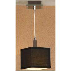 Подвесной светильник Lussole LSF-2576-01 Montone, 1 плафон, хром с вишней, чёрный