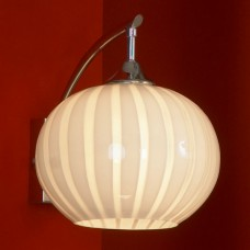Бра Lussole LSF-7201-01 Cesano, 1 плафон, хром, белый с прозрачным