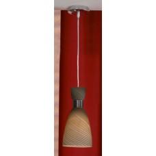 Подвесной светильник Lussole LSF-7376-01 Marcelli, 1 лампа, хром, коричневый с черным
