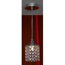 Хрустальная люстра подвесной Lussole LSJ-0406-01 Monteleto, 1 лампа, хром