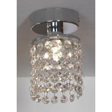 Хрустальная люстра потолочная  Lussole LSJ-0407-01 Monteleto, 1 лампа, хром