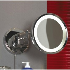 Зеркало с подсветкой влагозащищенное Lussole LSL-6101-01 Acqua, 1 плафон, хром, белый