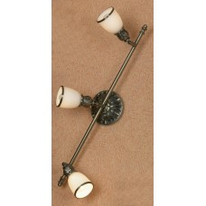 Спот Lussole LSL-7301-03 Furlo, 3 плафона, античная бронза, белый