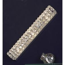 Хрустальное бра Lussole LSL-8701-03 Stintino, 3 лампы, хром, прозрачный хрусталь