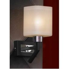 Бра Lussole LSL-9001-01 Costanzo, 1 плафон, хром с венге, белый