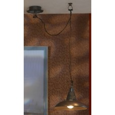 Подвесной светильник Lussole LSN-1076-01 Ancona, 1 плафон, медь с кофе