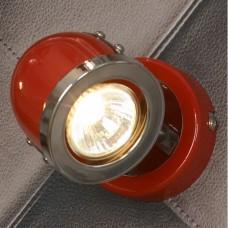 Спот Lussole LSN-3101-01 Tivoli, 1 плафон, хром с красным