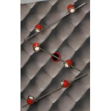 Спот Lussole LSN-3109-06 Tivoli, 6 плафонов, хром с красным