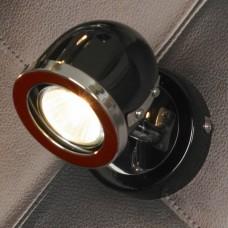 Спот Lussole LSN-3121-01 Tivoli, 1 плафон, хром с черным