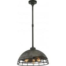 Светильник подвесной лофт Lussole LSP-9643 Loft, 1 плафон 3 лампы, серый