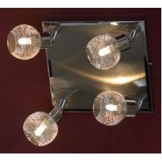Спот потолочный Lussole LSQ-3601-04 Treia, 4 плафона, никель с хромом