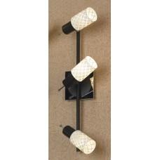 Спот Lussole LSX-5601-03 Aggius, 3 плафона, хром с черным, белый с прозрачным