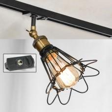 Светильник для шинопровода Lussole LSP-9109-TAB Centereach черный/бронзовый E27 60 Вт