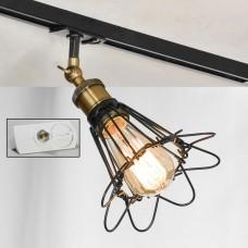 Светильник для шинопровода Lussole LSP-9109-TAW Centereach черный/бронзовый E27 60 Вт