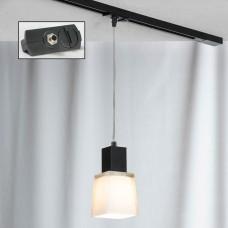 Светильник для шинопровода Lussole LSC-2506-01-TAB Lente хром/черный E14 40 Вт