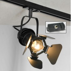 Светильник для шинопровода Lussole LSP-9838-TAB Thornton черный E14 40 Вт