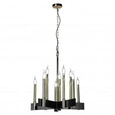 Подвесная люстра Lussole LSP-8203 (GRLSP-8203) Moultrie блестящее золото/черный E14 40 Вт