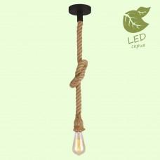 Светильник подвесной лофт Lussole LOFT LSP-8574 (GRLSP-8574) Cornville черный/коричневый E27 60 Вт