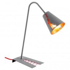 Настольная лампа лофт Lussole LOFT LSP-0518 (GRLSP-0518) Bethel серый/красный E14 40 Вт