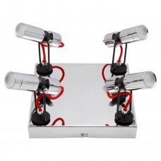 Спот светодиодный Lussole LSP-9925 Rome хром/черный LED 20 Вт 4100К