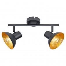 Спот Lussole LSP-9974 (GRLSP-9974) Louisville черный/оранжевый E14 40 Вт