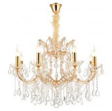 Хрустальная лампа LGO LSP-8134 (GRLSP-8134) Yuma блестящее золото E14 40 Вт