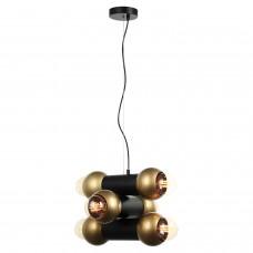 Светильник подвесной лофт Lussole LOFT LSP-8146 Truman черный/бронзовый E27 60 Вт