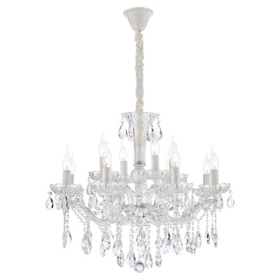 Хрустальная лампа LGO LSP-8133 (GRLSP-8133) Yuma белый E14 40 Вт