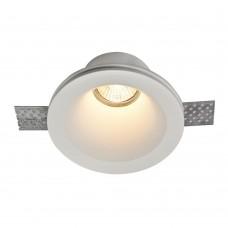 Гипсовый светильник Maytoni Gyps DL002-1-01-W белый под шпаклевку