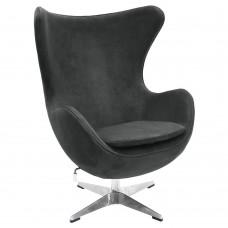 Кресло EGG CHAIR графит, искусственная замша