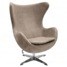 Кресло EGG CHAIR латте, искусственная замша