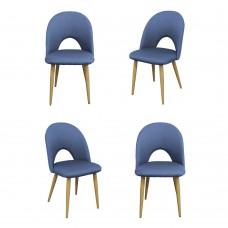 Комплект из 4-х стульев Cleo голубой