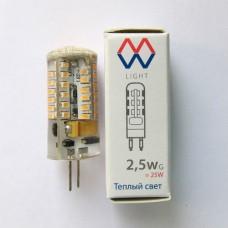 Лампа светодиодная Mw-light LBMW0402 G4 2,5W 2700K 12V
