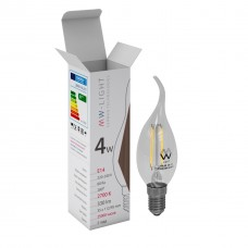 Лампа светодиодная Mw-light LBMW14CA01 E14 4W 2700K