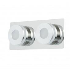 Светодиодный спот Chiaro 549020402 Пунктум 2*5W LED 220 V IP44 хром