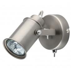 Спот DeMarkt 551020101 Вальтер 1*35W GU10 220 V серебристый с выключателем