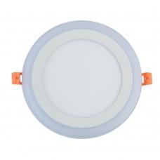 Встраиваемый светодиодный светильник Chiaro 660013101 Норден 12W+4W LED 220 V белый