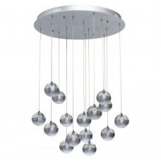Каскадная люстра Chiaro 730010315 Капелия 15*6W LED 220 V (пульт) серебристый