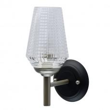Бра MW-Light 285021201 Альгеро 1*40W E14 220 V черный и перламутровое серебро