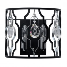 Бра MW-Light 285022002 Альгеро 2*40W E14 220 V черный и серебро