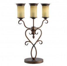 Настольная лампа Chiaro 669031403 Айвенго 3*60W E14 220 V коричневый