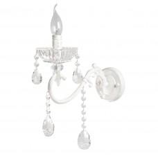 Бра De City 683022801 Свеча 1*60W E14 220 V белый с серебряной патиной, прозрачный