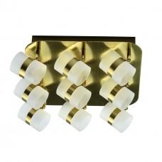 Спот De Markt 704010909 Этингер 9*2,5W LED 220 V матовое золото