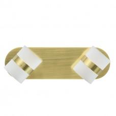 Спот De Markt 704023502 Этингер 2*2,5W LED 220 V матовое золото